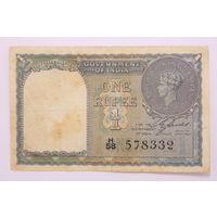 Индия, 1 рупия 1940 год,  -RЕДКАЯ -