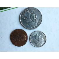 Монеты США. 3 шт.