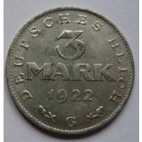 Германия. 3 марки 1922г.G.