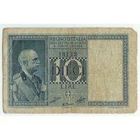 Италия 10 лир 1939 год.