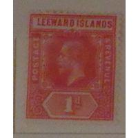 Король Эдуард VII. Ливардские острова (Leeward Islands) или Подветренные острова. Дата выпуска: 1907