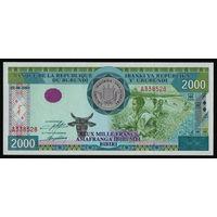 Бурунди 2000 франков 2001 года. Тип P41. Состояние UNC!