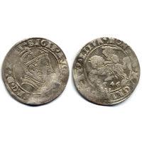 Грош 1546, Жигимонт Август, Вильно. Грош по литовской стопе. Окончания легенд: Ав - LIT, Рв - LITVA. Коллекционное состояние