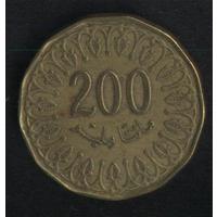 Тунис 200 миллим 2013 г. Не частые (*). Сохран!!!