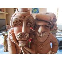 Глиняная фигурка Два сельских парня