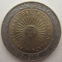 Аргентина 1 песо 2013 г. 200 лет первой национальной монете (m)
