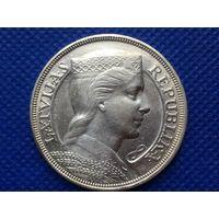 5 лат 1929 Милда. Латвия. Первая Республика. Серебро.