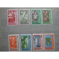 Транспорт, корабли, флот, архитектура, марки Индонезия 1966