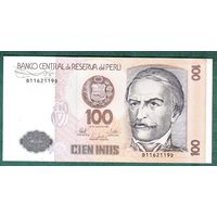 ПЕРУ  100 интис  1987 год