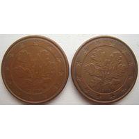 Германия 5 евроцентов 2004 г. (F) (J). Цена за 1 шт.