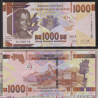Распродажа коллекции. Гвинея. 1 000 франков 2015 года (P-48 - 2012-2018 Issue)