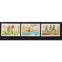 Руанда-1993,(Мих.Бл.1454-1456) **  , Спорт, ОИ-1992