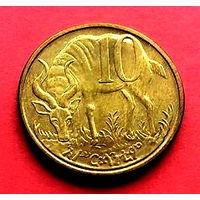 05-23 Эфиопия, 10 центов 2005 г. Единственное предложение монеты данного года на АУ