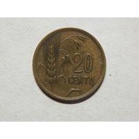 Литва 20 центов 1925г