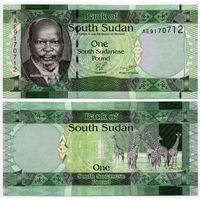 Южный Судан. 1 фунт (образца 2011 года, P5, UNC)