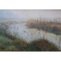 """Картина маслом """"Утро. Туман"""""""