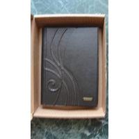 Ежедневник сувенирный ручной работы, кожа коричневая, натуральная.
