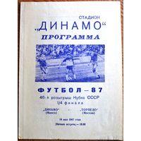 Динамо Минск - Торпедо Москва  1987 год  Кубок СССР