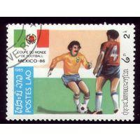 1 марка 1985 год Лаос Футбол 815