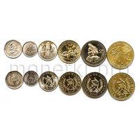 Гватемала 6 монет 1999-2010 годов.