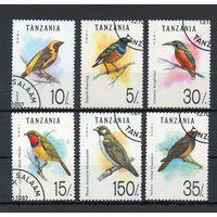 Фауна Птицы Танзания 1992 год 6 марок