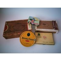 5 коробок от табака,сигар,сигарилл