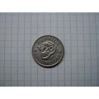 Австралия 1 шиллинг 1953, серебро