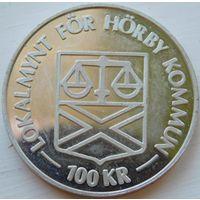 20. Швеция 100 крон 1980 год, серебро*
