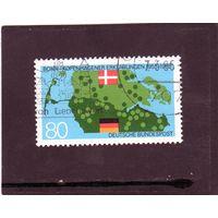 Германия. Ми-1241. Датско-германский договор. Серия: 30-я Anniv. деклараций Бонна-Копенгагена.1985.