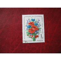 Марка 25 лет Победы Букет Цветов Венгрия 1980 год