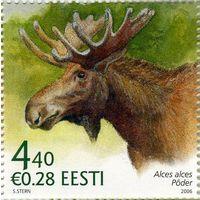 Эстония 2006 г.  Эстонская фауна. Лось