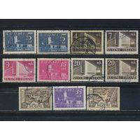 Финляндия 1930-52 Олафсборг Почтовая администрация Хельсинки Лесоруб Стандарт #155,157,221,269-70,317-8,360,406