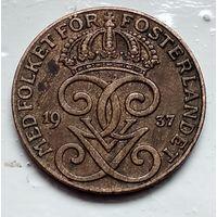 Швеция 2 эре, 1937 4-4-44