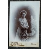 Фото жещины. Тифлис. До 1917 г. Придворный фотограф П.Ганкевич. 10х15 см