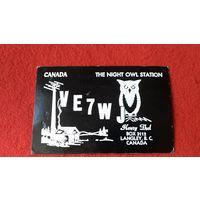 Открытка радиообмена CANADA VE7W BOX 3112 LANGLEY,B.C.