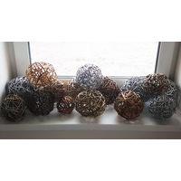 Плетеные шары - оригинальное украшение на ёлку, 17 шт. Поштучно.