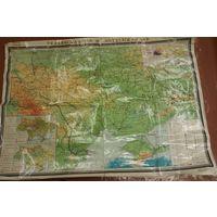 Карта большая 1977  УССР и МССР и Крым советский  масштаб 1:1000000