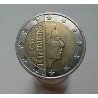 2 евро 2014 Люксембург aUNC