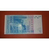 Банкнота 2000 франков  Бенин    2003