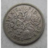 Великобритания. 6 пенсов 1954   .6 А-183