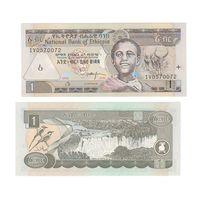 Банкнота Эфиопия 1 быр 2000 (2008) UNC ПРЕСС