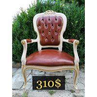 Кожаное кресло, Капитоне, 80 е гг. Европа.