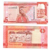 Гамбия 5 даласи 2015 Яйя Джамме – президент Гамбии ПРЕСС из пачки UNC