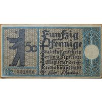 Нотгельд 50pf 1921г. Берлин #7