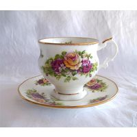 Чайная пара Чашка Английский сад Костяной фарфор Elizabethan Англия