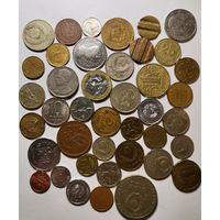 Монеты разных стран 40 шт