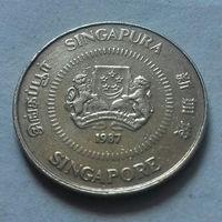 10 центов, Сингапур 1987 г.
