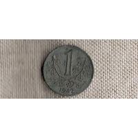 Богемия и Моравия Чехия 1  крона 1942(Li)