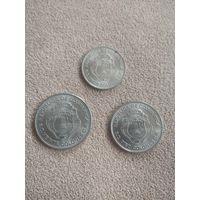 Коста Рика НАБОР 3 монеты 1975 25 лет Центрального банка