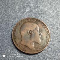 G Великобритания 1 пенни 1906 г. Едуард Едвард 7-й
